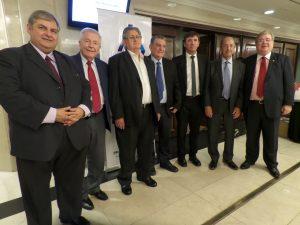 Delegación Argentina con Dr. Julio Martinez de Uruguay