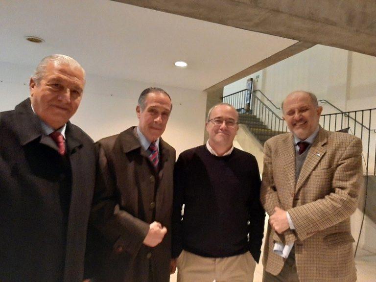 Cnl. Int. (R) Dr. José Guerrero- GD (R) Carlos Esteves- Prof. Germán Montenegro-Grl Br (R) Fabián Brown