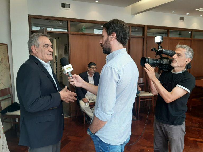 Los medios con Dr. Carlos Iannizzotto