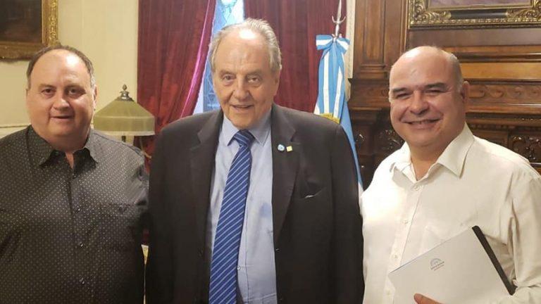 Cristian Horton, Carlos Heller y Carlos Mansilla