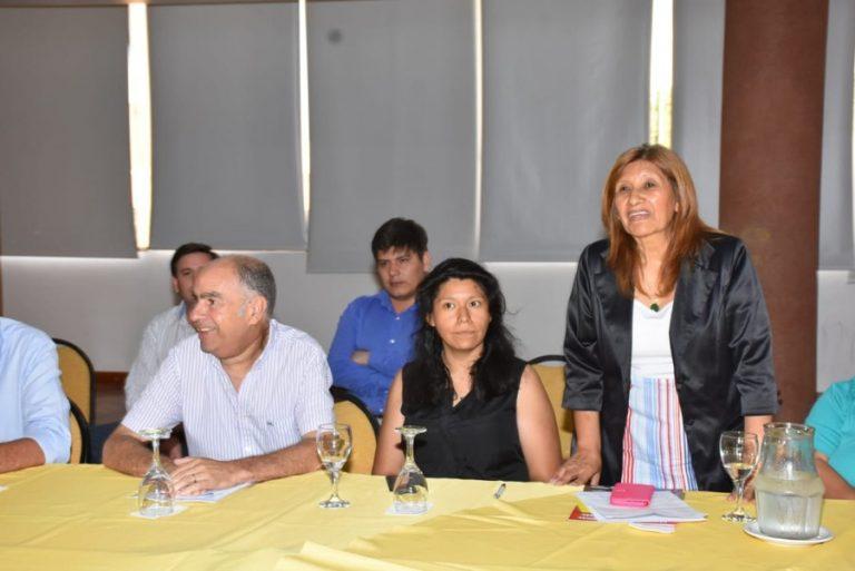 Dipl. Marina Torres con Ing. Cafiero