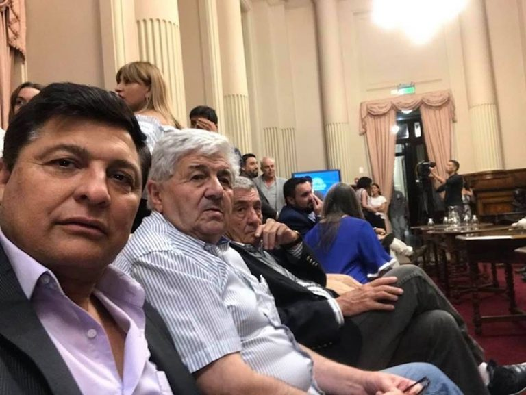 José Alvarez y Omar Zerzenon en Senado