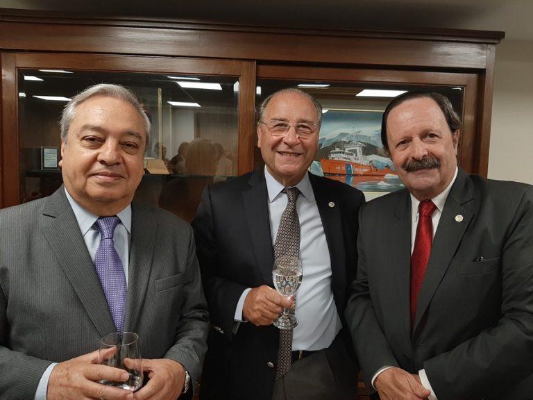 Dr Enrique Arroyo- Jorge Gabino Pereira- Pte de Mutual