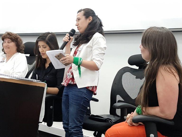 Marcela Díaz en panel