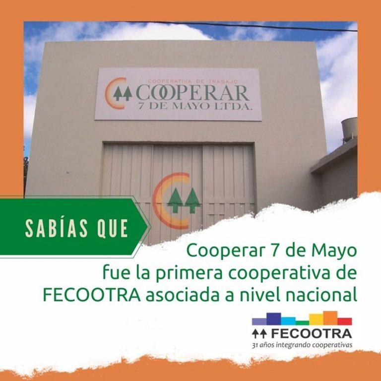 Cooperar 7 de Mayo- 1era asociada a Fecootra