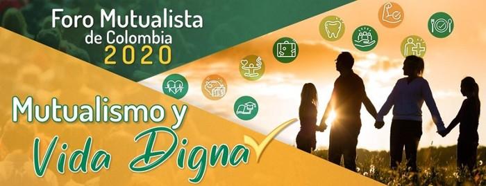 Cartel foro mutualista Colombia 2020