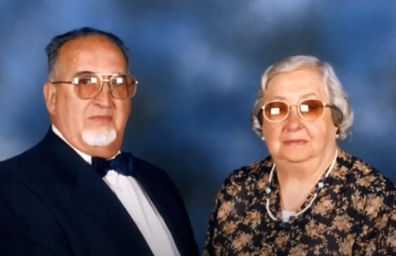Rodríguez Cabarcos con su esposa