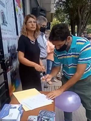 Diego Grimado firma convenio